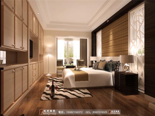恒大金碧天下主卧室细节效果图---高度国际装饰设计