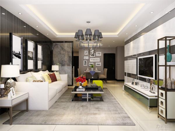 本户型南北通透,布局紧凑,动静分明,功能分区大体合理,整体采光较好,空间的功能性很强,根据房间的合理布局以及面积,特此设计成现代简约风格。