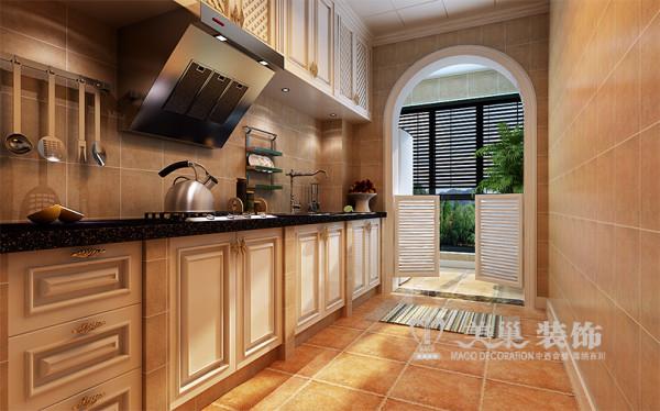 南阳信息学院家属院装修效果图3室2厅户型设计——厨房布置