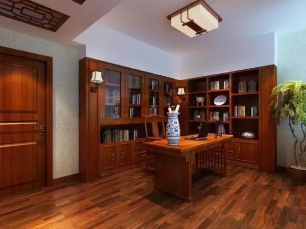 业主是一名大学教授,对于书籍和中国元素的东西接近痴迷,一间宽敞明亮的书房已是最大的满足,看看书,累了喝喝茶,幸福也莫过如此。