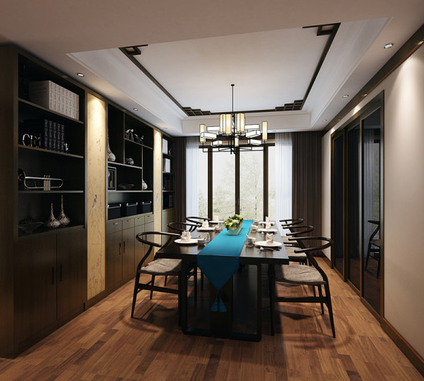餐厅的设计跳出了浓重的色彩和统一色调,以缤纷柔和的桌布墙面布景配上暖光源,使空间变的通透而开阔,温和而舒适,古典韵味造就了雅致的空间。