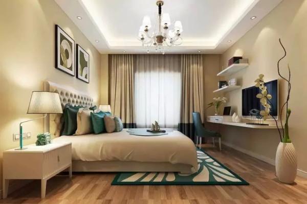 浅色的地板,清晰可见的木质纹理,年轮的样式,浓郁的现代简约风吹满整个空间。阳光透过白色的窗帘洒落房间,令人心旷神怡。