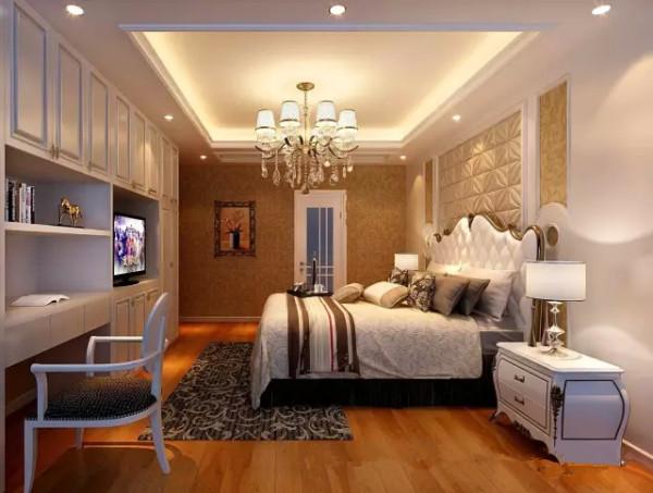 卧室内特别设计独立的洗浴间,以白色为主色调,搭配暖色调灯光,与同色系的窗帘、床单相生相应,高雅而古朴。营造清静的气质,在这里,主人可以放松一天的紧张心情,没有视觉凝聚的焦点,不被打扰。