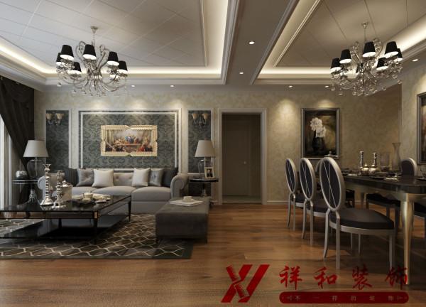 注重背景色调,由墙纸、地毯、帘幔等装饰织物组成的背景色调对控制室内整体效果起了决定性的作用。
