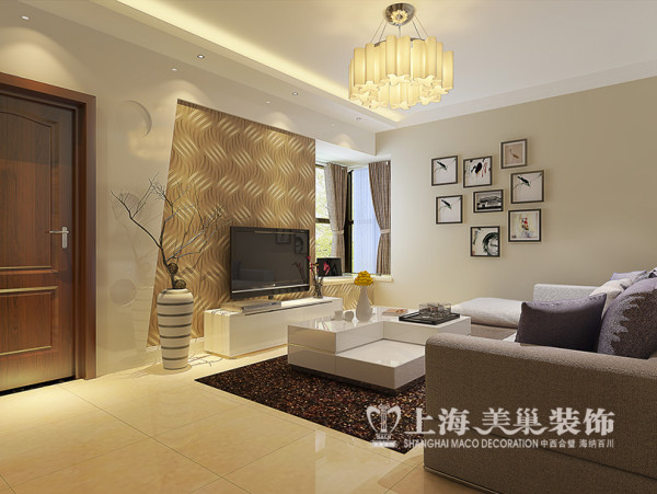 方圆经纬80平两室两厅装修现代简约效果图