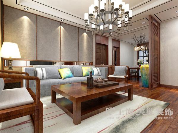 名仕嘉园123平三室新中式装修图