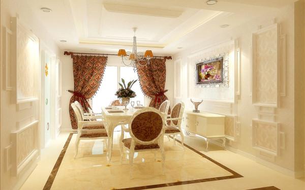 欧式风格,白色是餐厅的主色调,干净且整洁,将奢华浪漫的情怀与现代人的生活节奏相结合,兼容华贵典雅与时尚现代,反映出个性化的美学观点和文化品位。