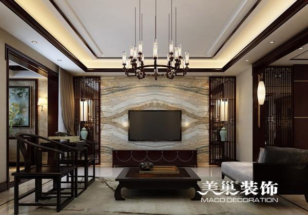 碧桂园270平新中式样板间装修图