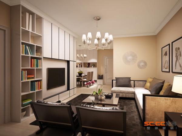 开放式的书房,增加储物空间的同时,让空间有了变化,功能多样。
