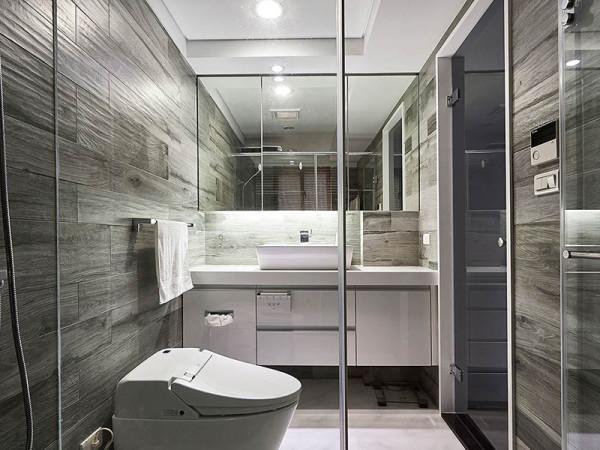 以木纹砖立面搭配百砖地坪,营造简约大方的质感器度。