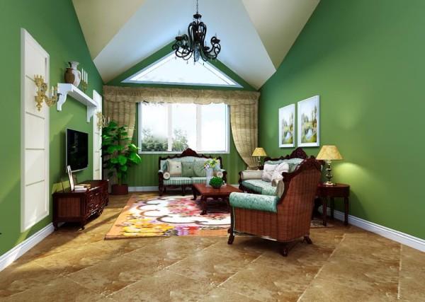 美式乡村二居旧房改造客厅装修效果图片 装修美图 新浪装修家居网看高清图片