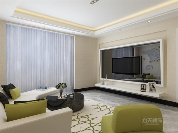 沙发背景墙悬挂了了世界地图,简单大气,家具与整体深浅对比协调统一,营造出温馨典雅的气氛。
