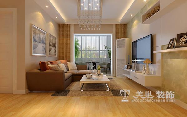 郑州正商幸福港湾装修设计案例两室两厅80平居室