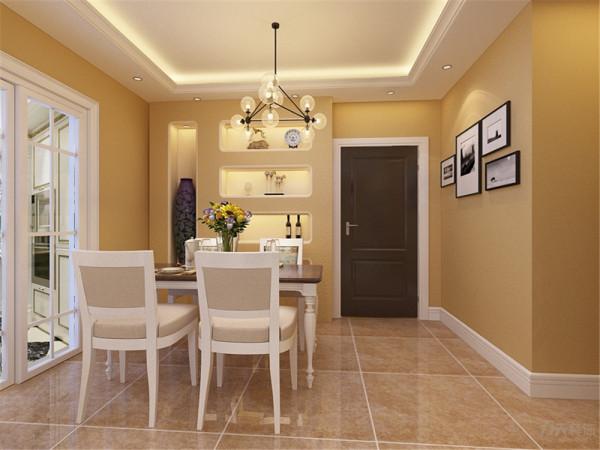在布局上追求空间的有效利用,石膏板拉缝吊顶贯通客厅和餐厅,让本来不是特别大的客厅一下宽敞、明亮起来