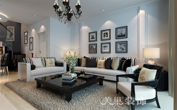 家天下装修3室3厅户型案例设计效果图