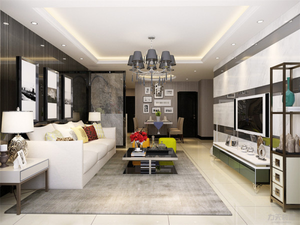 本户型南北通透,布局紧凑,动静分明,功能分区大体合理,整体采光较好,空间的功能性很强,根据房间的合理布局以及面积,特此设计成现代简约风格