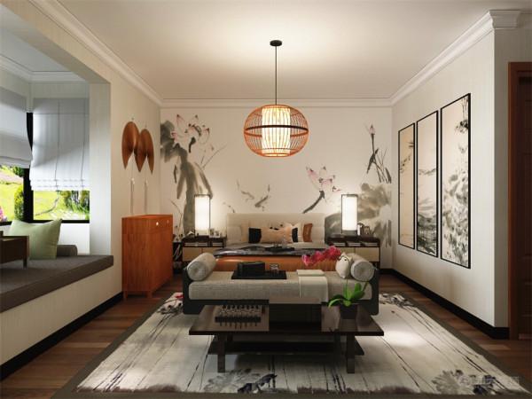 米色大理石,墙面大面积是灰色的乳胶漆,顶部是白色乳胶漆,客厅部分做
