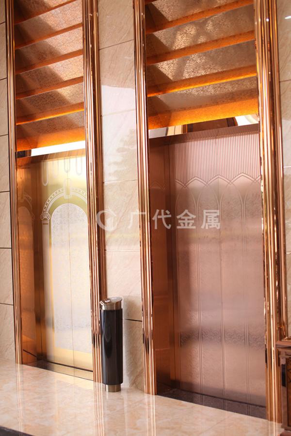 广代产品展厅-电梯装饰板 电梯门套