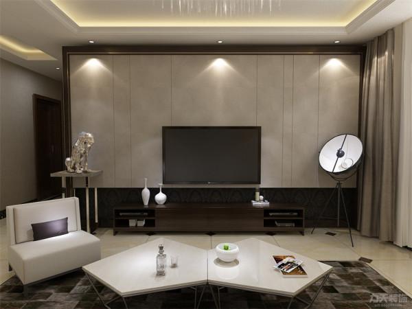 客厅装修是整个家庭装修的重点。用简单的颜色饰品来做简单的点缀。电视背景墙采用棕色包边,与周围的色彩产生对比,简单明快。沙发背景墙采用样式各异装饰画衬托出业主的独特品味,适合时下年轻人居住。
