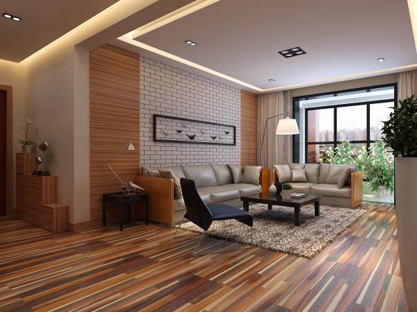 客厅沙发背景墙装修设计效果展示。