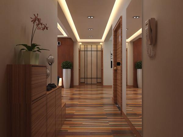这里是玄关走廊的装修设计效果。