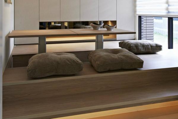可作升降调整的多功人性空间,让和室一秒钟卧铺轻松变。