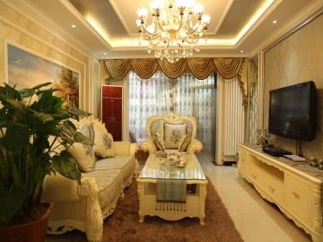 欧式奢华风格 100平米三居室