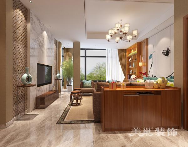清水苑300平五居室装修新中式案例样板间