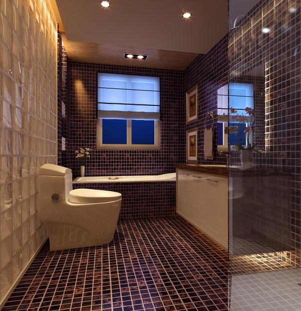 生活家装饰--中广宜景湾160平米现代风格卫生间装修效果图