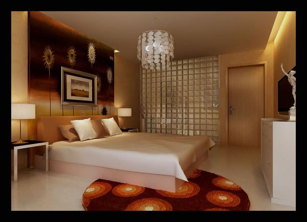 生活家装饰--中广宜景湾160平米现代风格卧室装修效果图