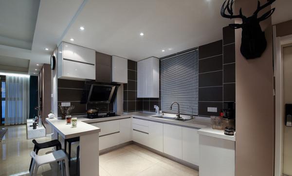 开放式厨房橱柜装修图片