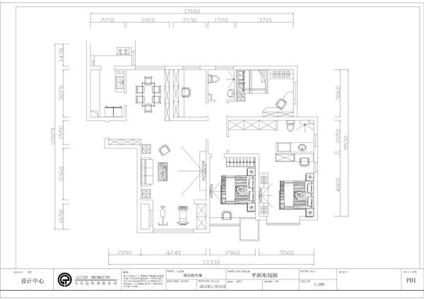 本案雲锦世家高层标准层四室两厅一厨两卫,该户型南北通透,布局合理,拥有良好的通风以及采光,入户门在北面,室内采光主要都在南面。从入户门开始,进入房间之后是餐厅和客厅。