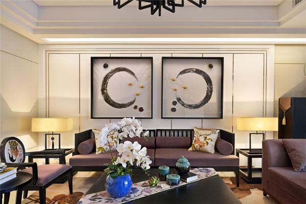 三居室新中式风格设计欣赏