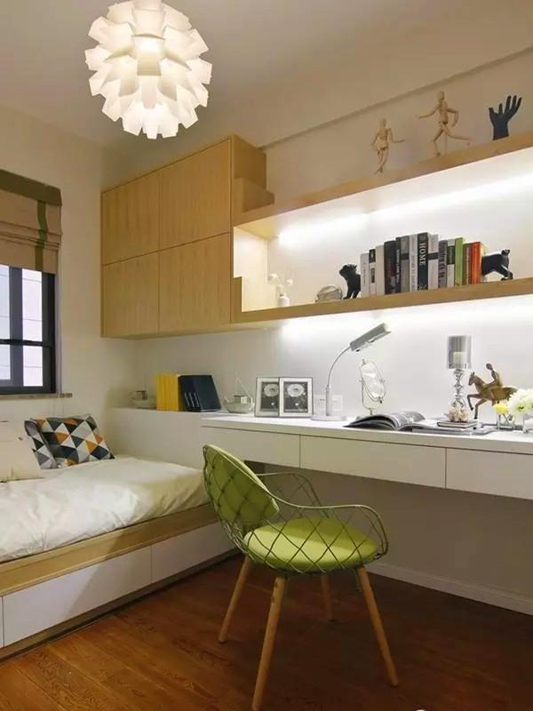 多功能次卧兼书房,未来的儿童房,颜色淡雅,功能实用。