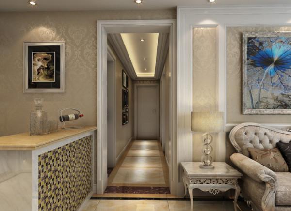 生活家装饰--宏仁家园102平米D户型简欧风格过道装修效果图