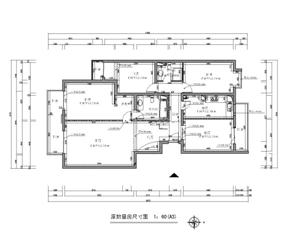 生活家装饰--韦伯豪家园130平米简欧风格原始平面图