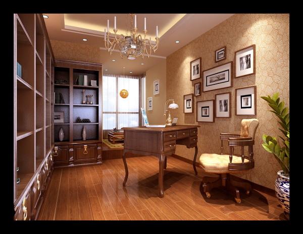 生活家装饰--韦伯豪家园130平米简欧风格书房装修效果图