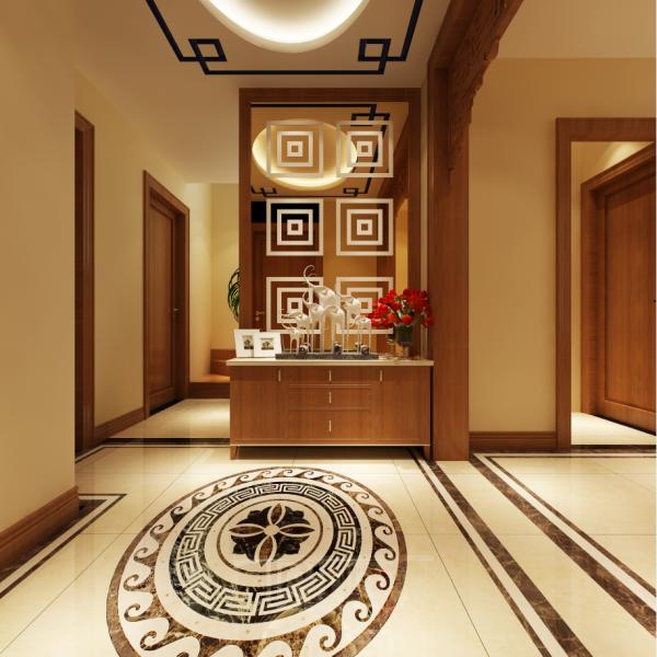 生活家装饰--金色漫香林130平米新中式风格玄关装修效果图