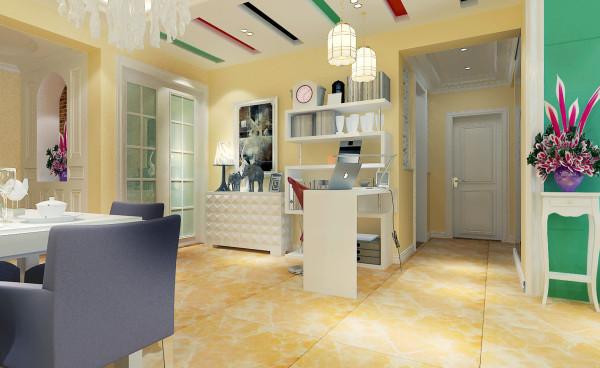 如意花园140平现代简约设计-君子兰装饰 餐厅效果