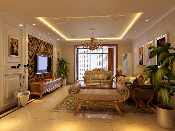 生活家装饰--华侨城小区159平米简欧风格客厅装修效果图