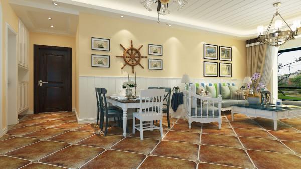 锦棠120平美式风格设计-君子兰装饰 美式餐厅