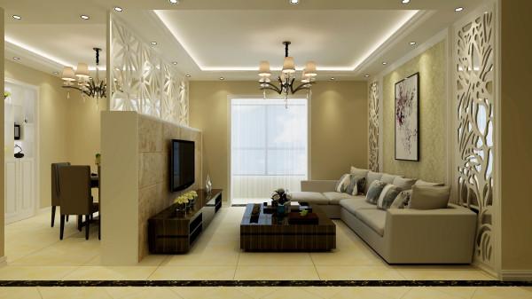 永恒理想世界简欧设计案例-君子兰装饰 客厅效果