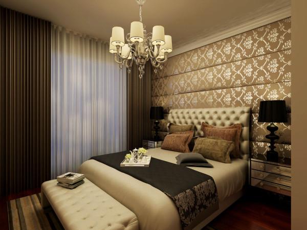 永恒理想世界简欧设计案例-君子兰装饰 卧室效果