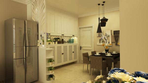 永恒理想世界现代简约设计-君子兰装饰 入户玄关及餐厅效果