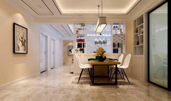 如意花园160平现代简约设计-君子兰装饰 餐厅效果