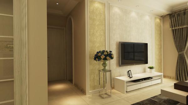 永恒理想世界现代简约设计-君子兰装饰 走廊效果