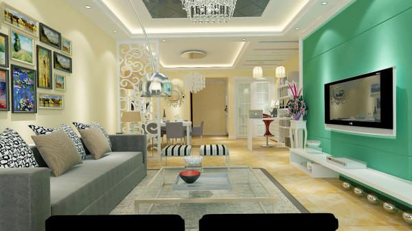 如意花园140平现代简约设计-君子兰装饰 客餐厅效果
