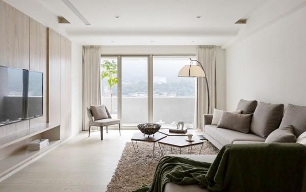 日式风格极简客厅装修效果图片_装修美图-新浪装修网