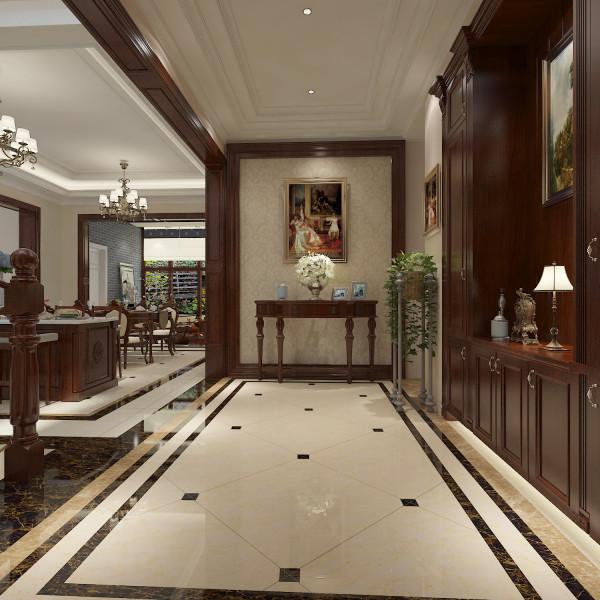 新田城别墅设计-君子兰装饰 入户门厅