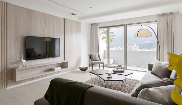 日式风格极简客厅装修效果图片